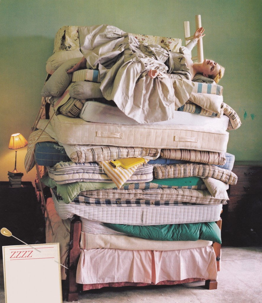 keep calm and have a lazy day vogue bed of mattresses