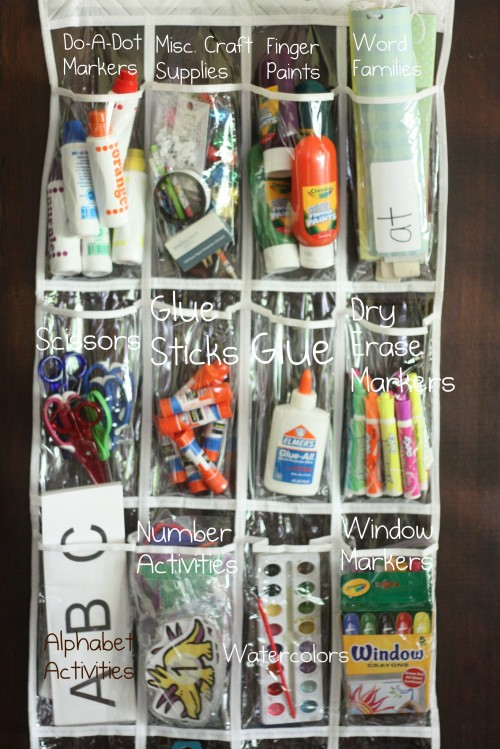 Use a shoe organiser for your craft supplies