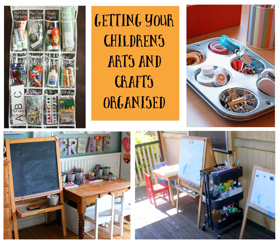 getting your childs arts and crafts space and upplies organised