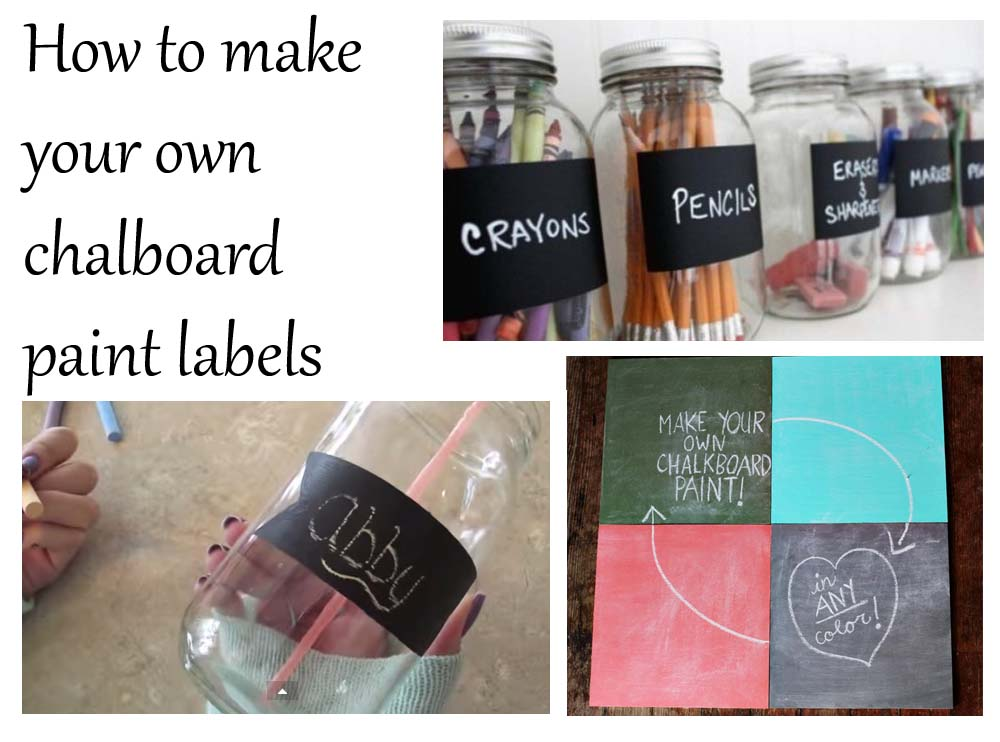 how to make your own chalkboard paint labels