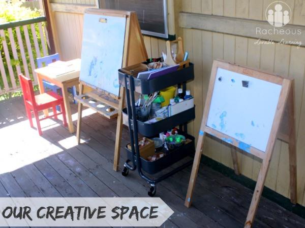 outdoor creative art space for children
