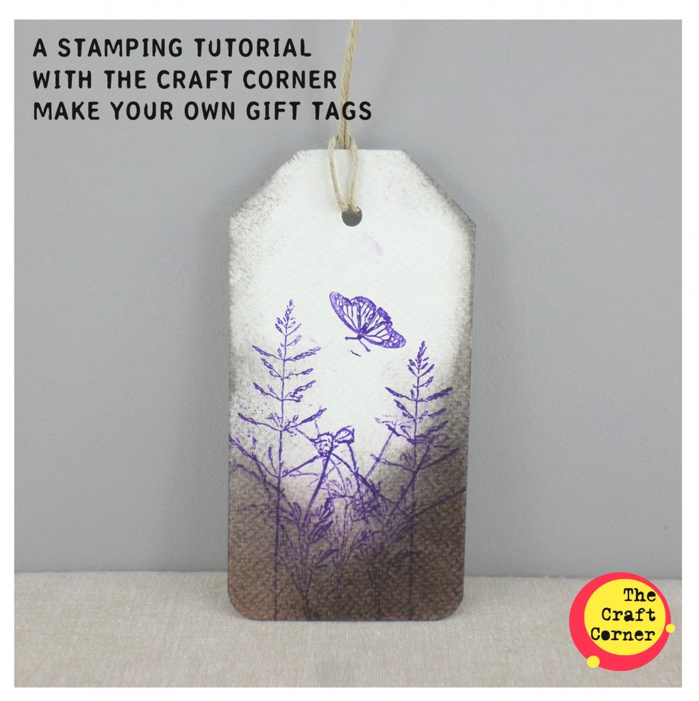 a stamping tutorial with the craft corner make your own gift tags