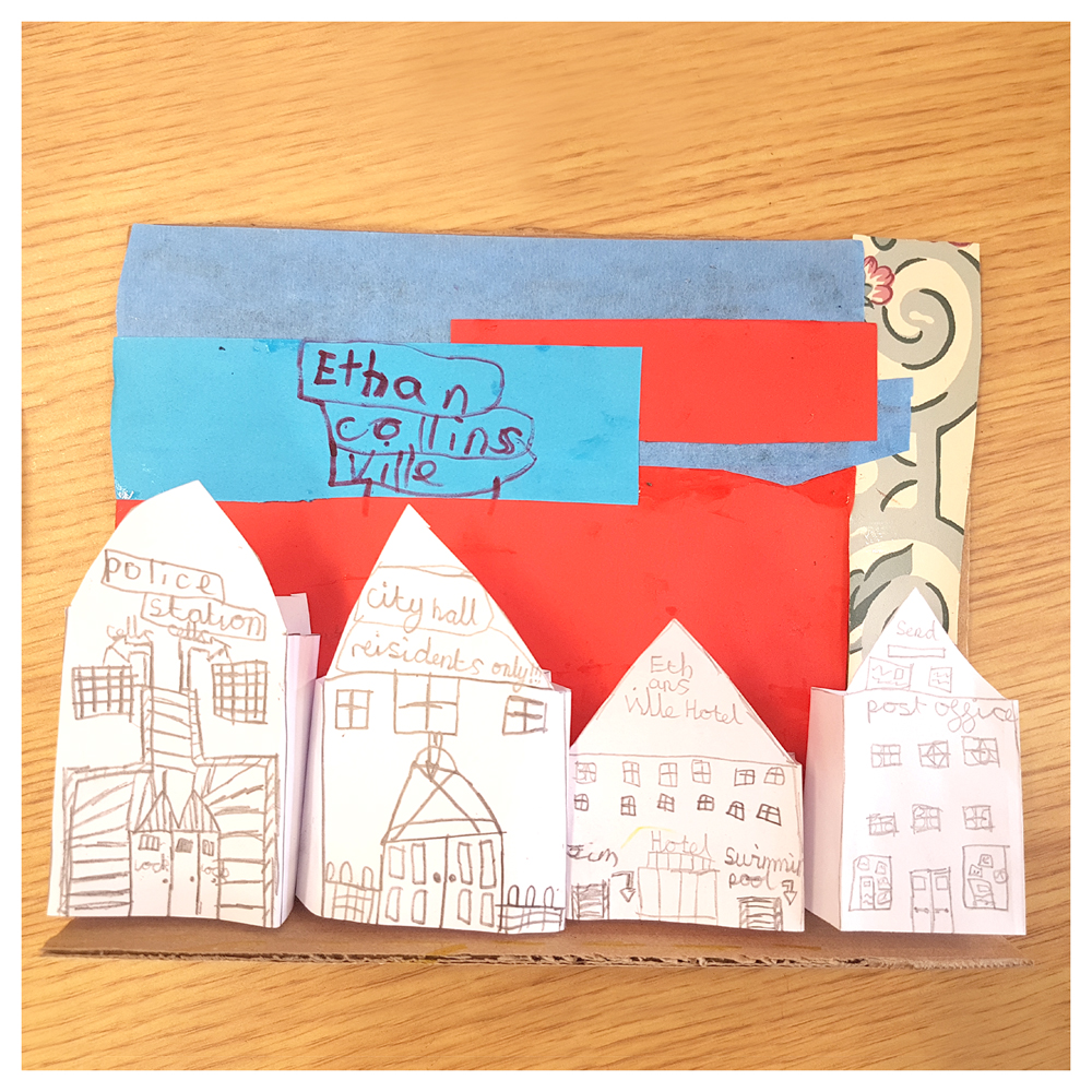 making paper towns with our craft classes