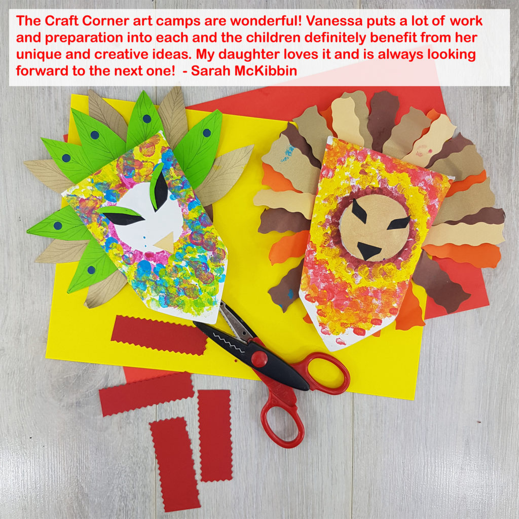 the craft corner Naas Summer Camp in St Davids School Naas