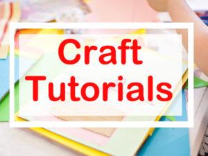 craft tutorials blog posts with the craft corner