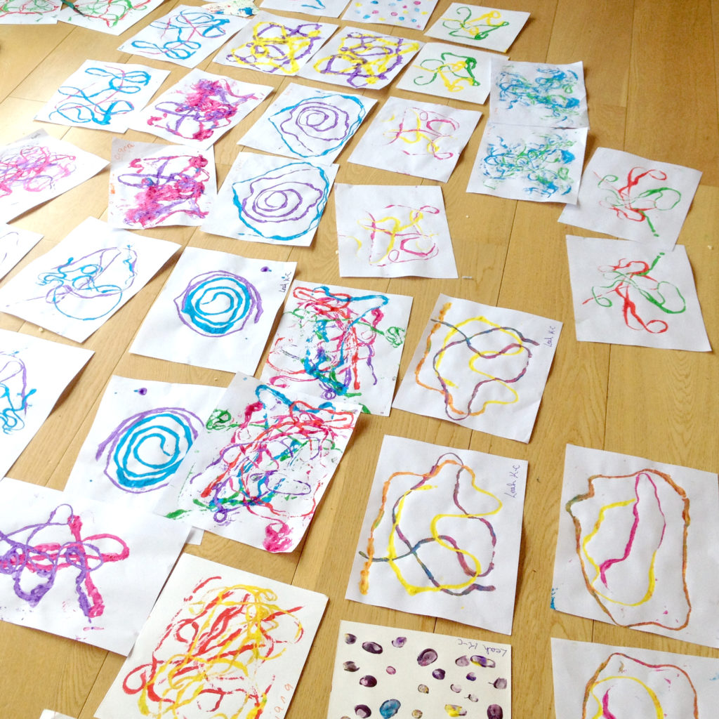 string art painting experiments at our straffan summer camps