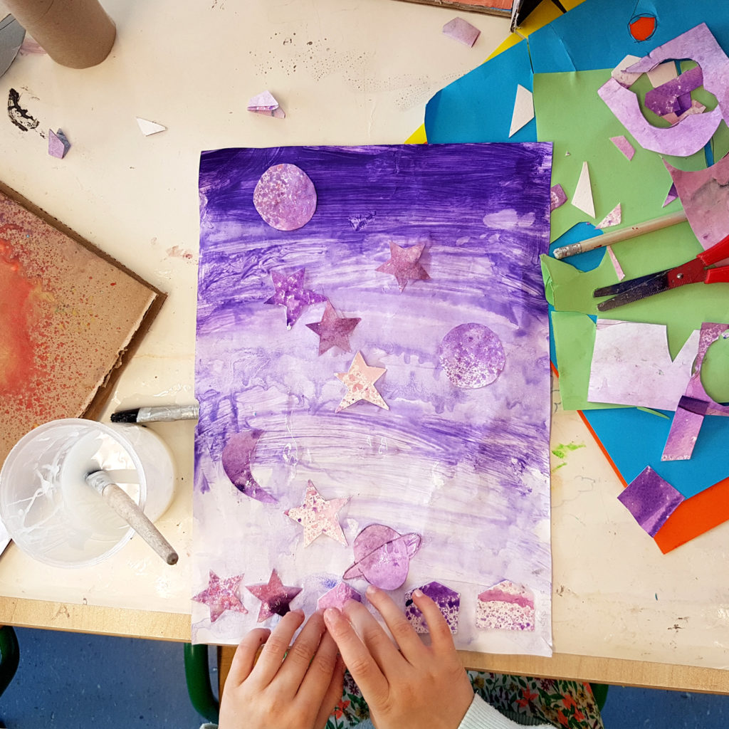 Getting messy at art camp, this summer join us for another Celbridge summer camp at the Educate Together school