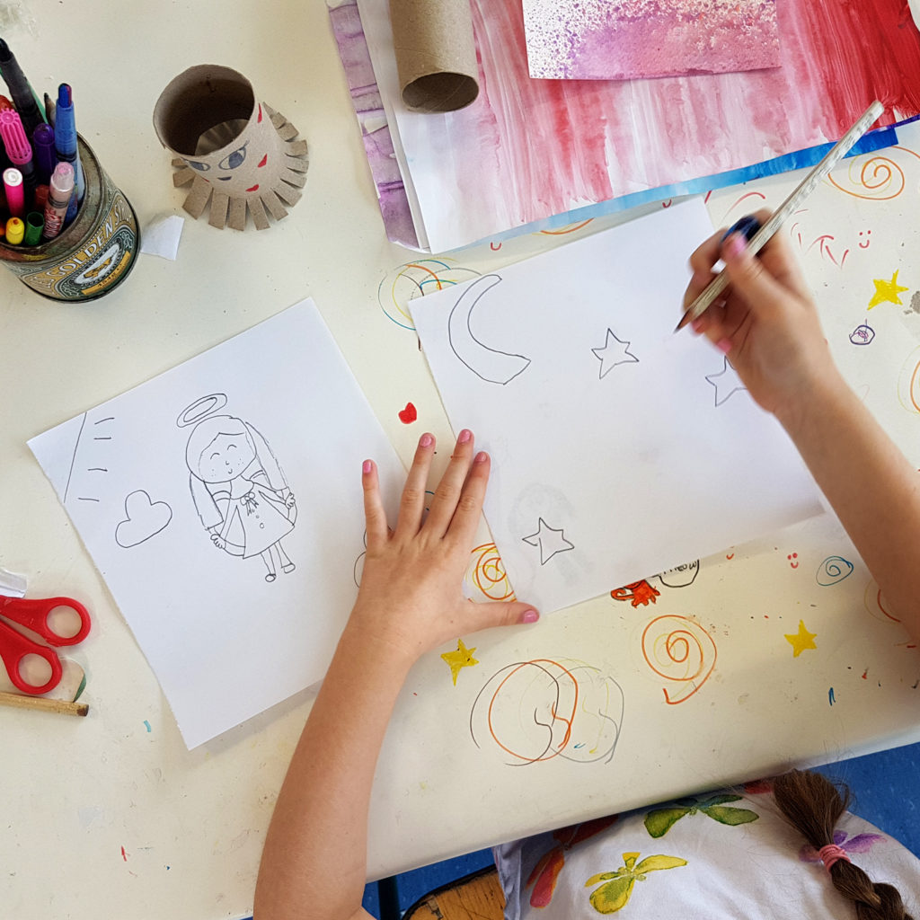 Celbridge summer camp practicing our drawing skills
