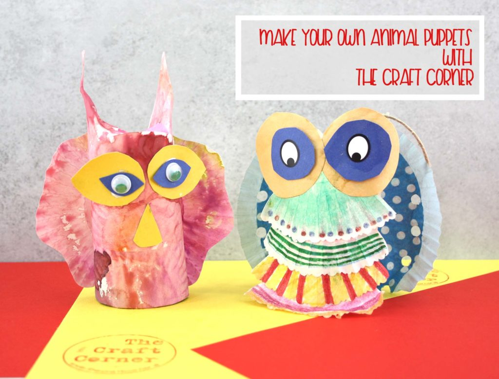 make your own animal puppets with the craft corner