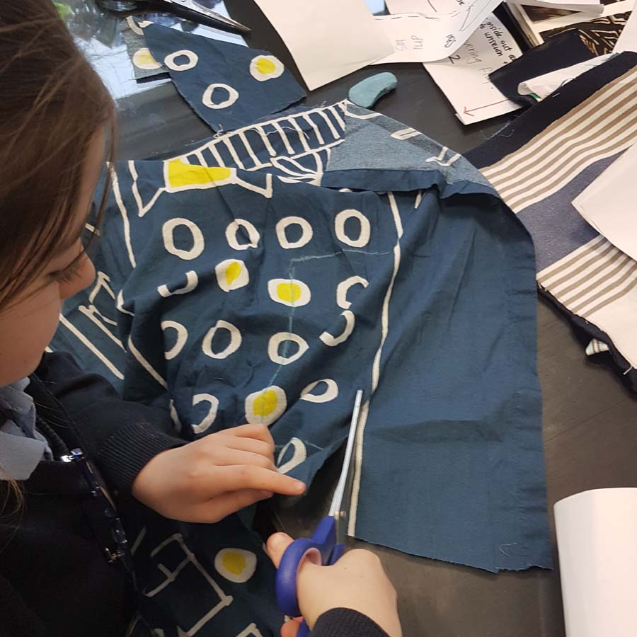 sewing class using upcycled materials