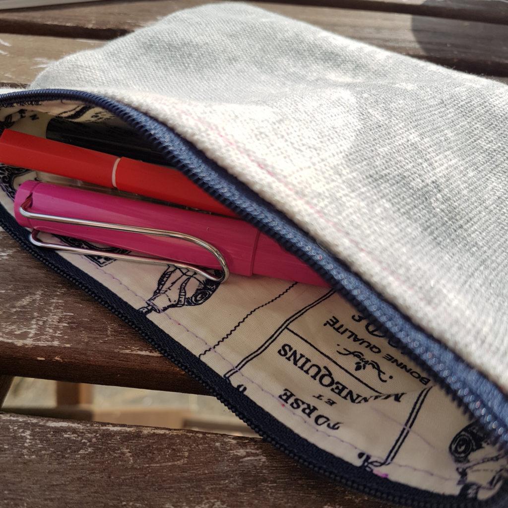 Handmade zipper pouch, sewing class for beginners