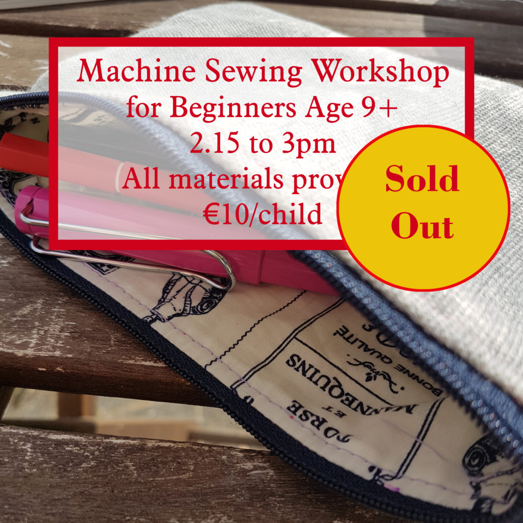 machine sewing workshop is now SOLD OUT