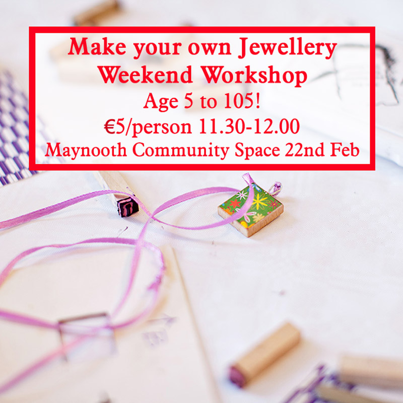 make your own jewellery with the craft corner in maynooth perfect for parent and child workshops