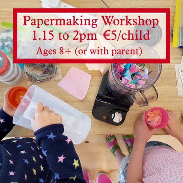 papermaking workshop for children