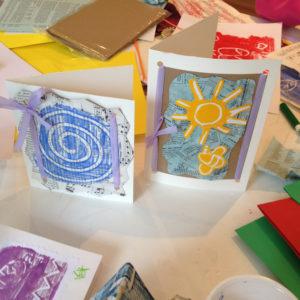 printing workshop with kids