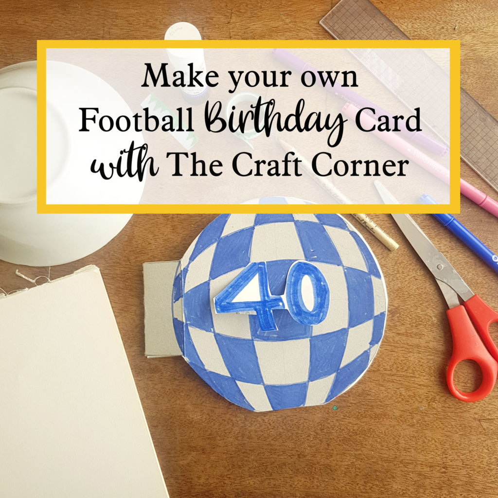 make your own sports soccer card with the craft corner