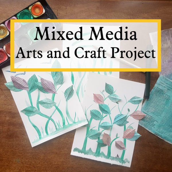 mixed media arts and craft project