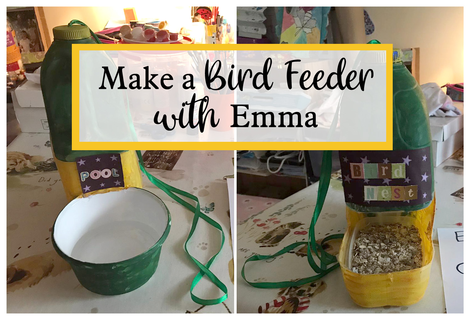 make a bird feeder with Emma guest presenting on The Craft Corner