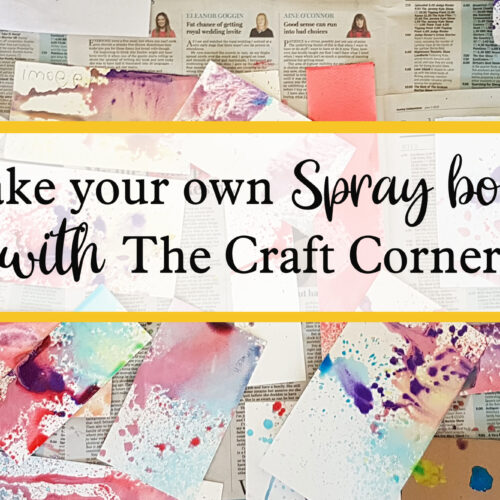 make your own spray booth with the craft corner
