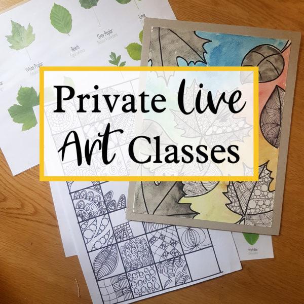 private live online art classes