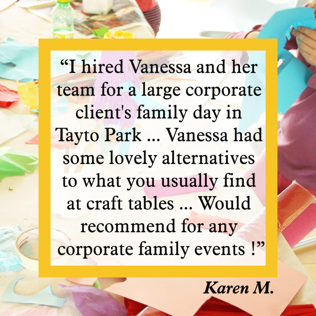 Corporate arts and crafts family day review