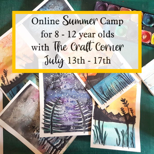 Online Summer camp for 8 to 12 year olds with the craft corner this july