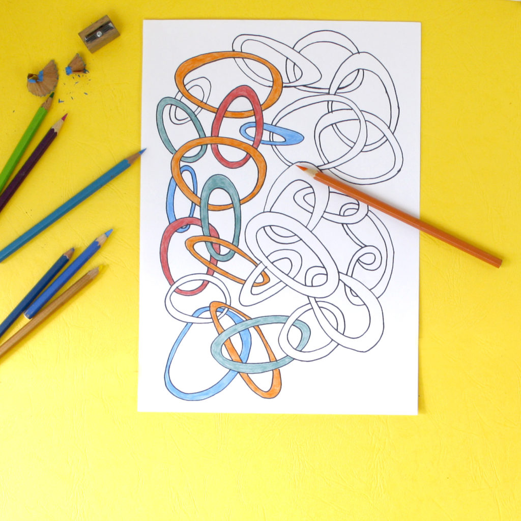 we are all connected big rings colouring page