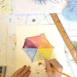 the colour wheel is an umbrella