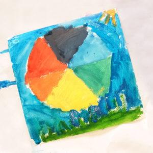 the colour wheel is art