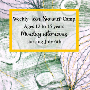 weekly teen summer camp starting july 6th