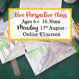 Live Perspective Drawing Class Ages 6+