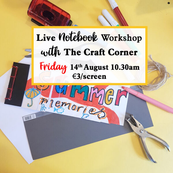 friday notebook making workshop with the craft corner live on zoom