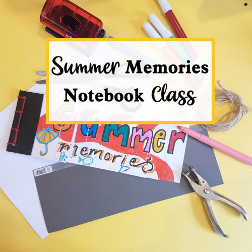 summer memories notebook class with the craft corner