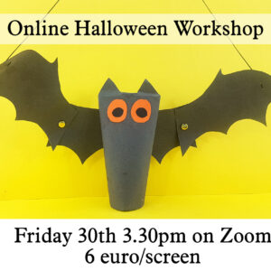 flying bat live online halloween workshop