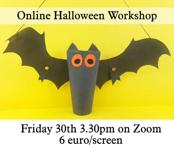 flying bat live online halloween workshop