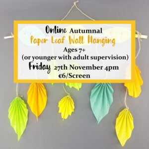 online autumnal paper leaf wall hanging workshop