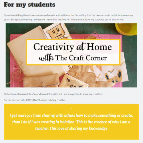 cretivity at home - free online tutorials