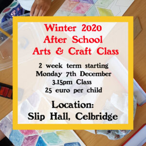Winter Art Classes - Monday 3.15 Celbridge