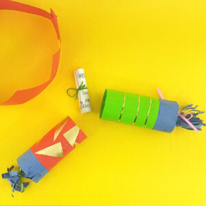 christmas crackers made from recycled materials