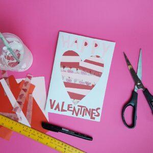online valentines day workshop with the craft corner