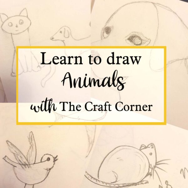 learn to draw animals with The Craft Corner free online workshops