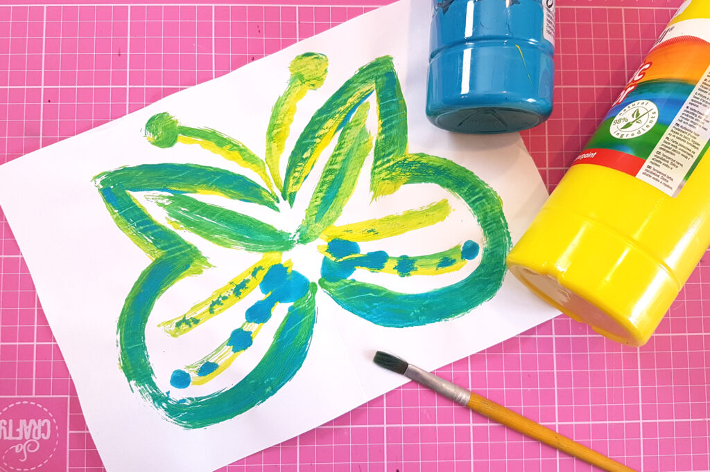 mirror image painting with the craft corner painting with children