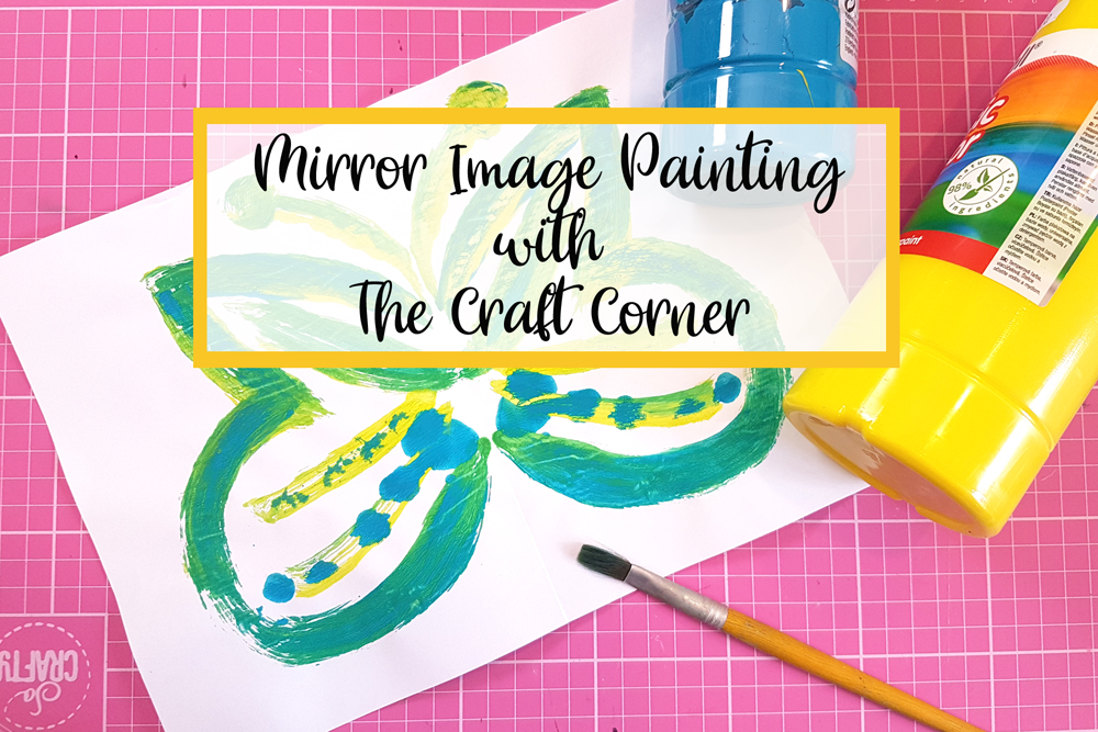 mirror image painting with the craft corner painting with children 2021