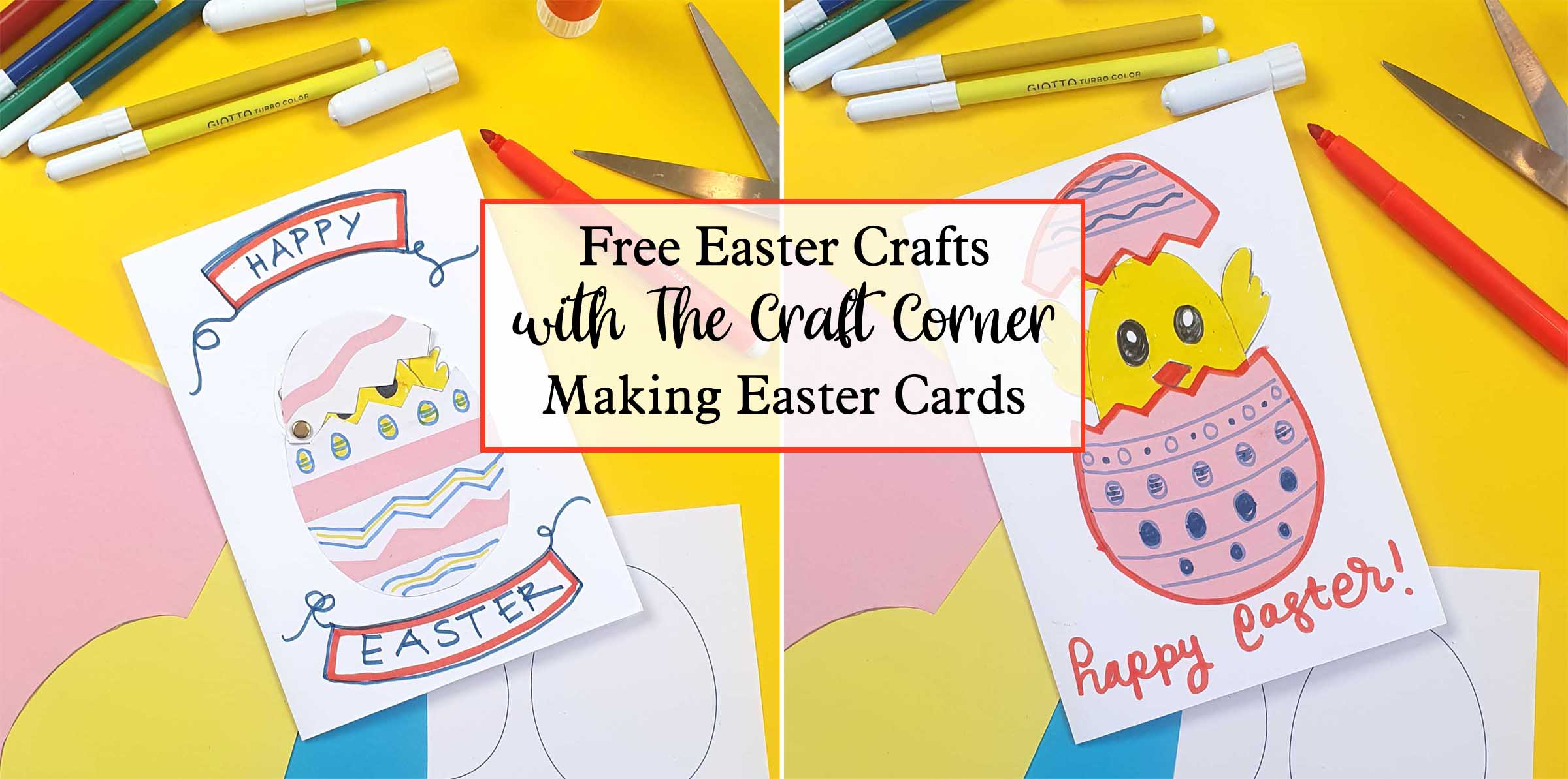 free easter crafts making your own easter cards with the craft corner