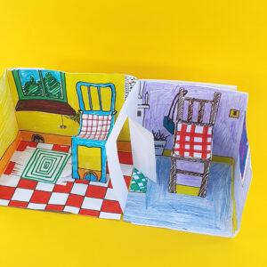 online art class making a dollshouse from paper 2