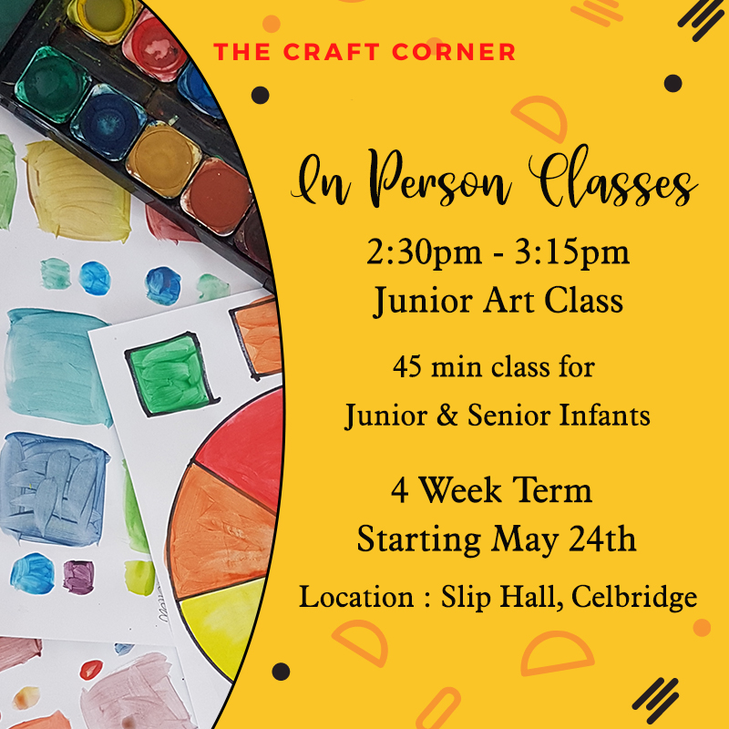 Junior and senior infants arts and craft classes