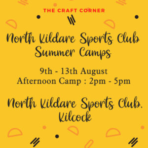 North Kildare summer arts camps August