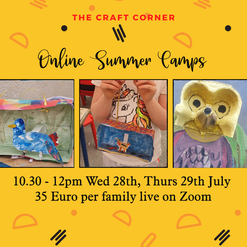 online summer camps with the craft corner